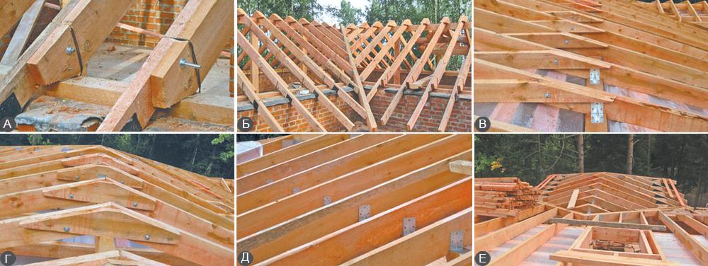 Монтаж четырехскатной крыши своими руками на доме из бруса 82
