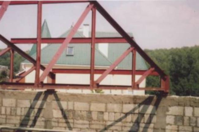 Крыша из профильных труб