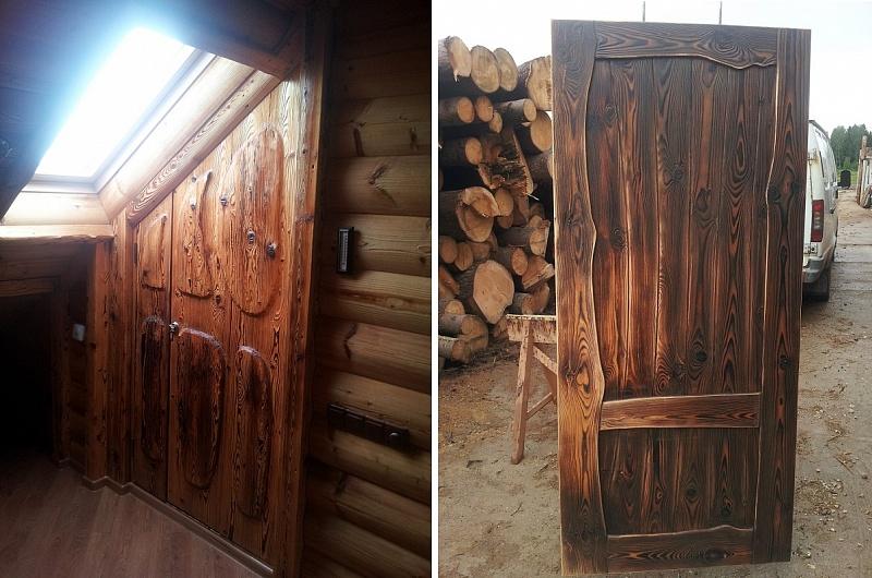 Как состарить деревянную дверь своими руками 17