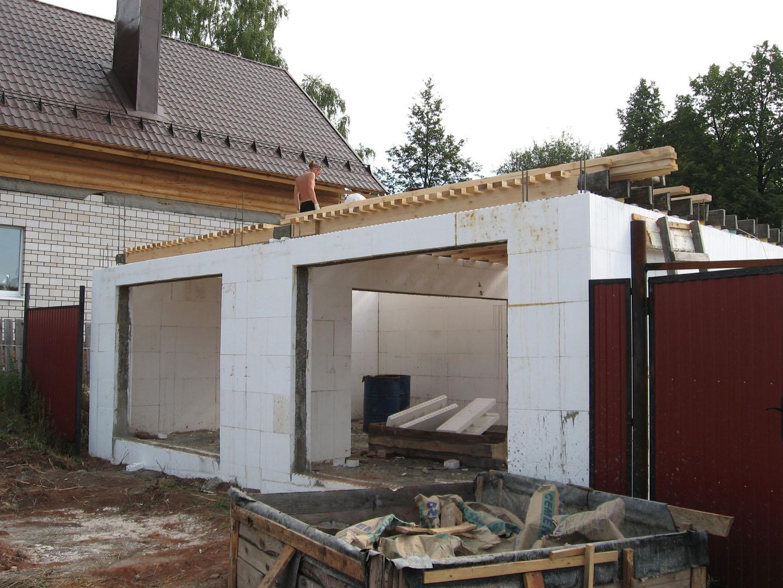 Фото построить гараж своими руками