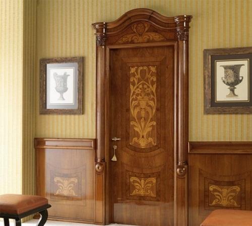 классический стиль двери металлические