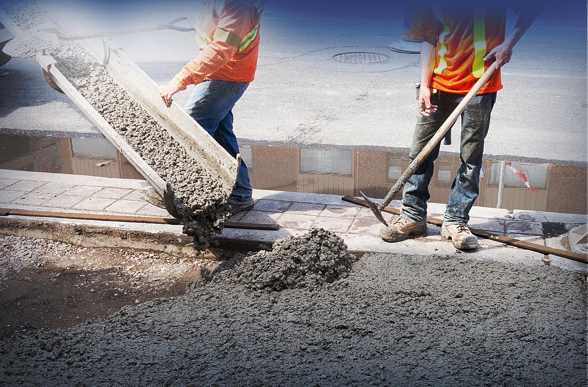 Доставка цементного раствора каверны в бетоне