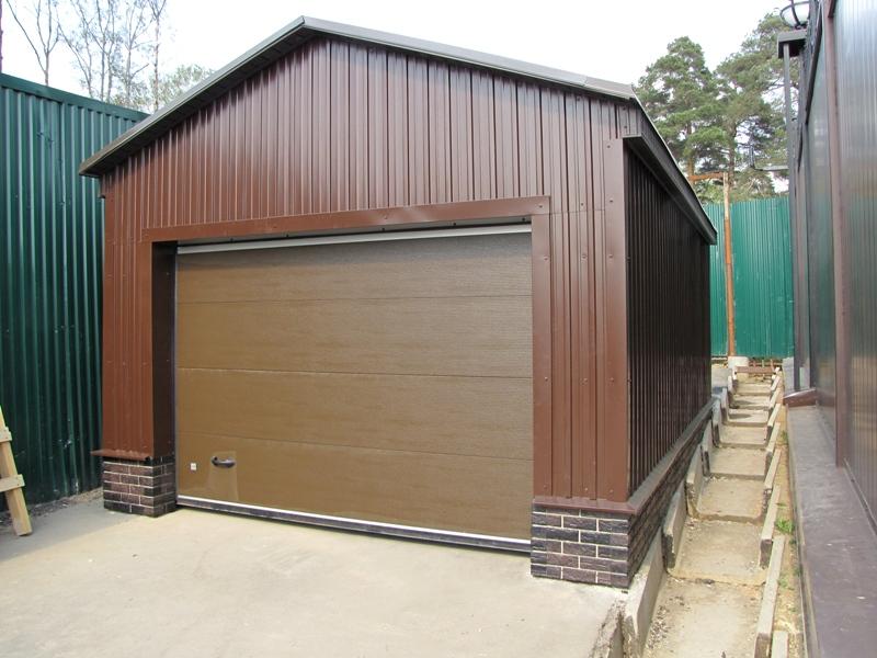 Построить гараж своими руками из металлопрофиля